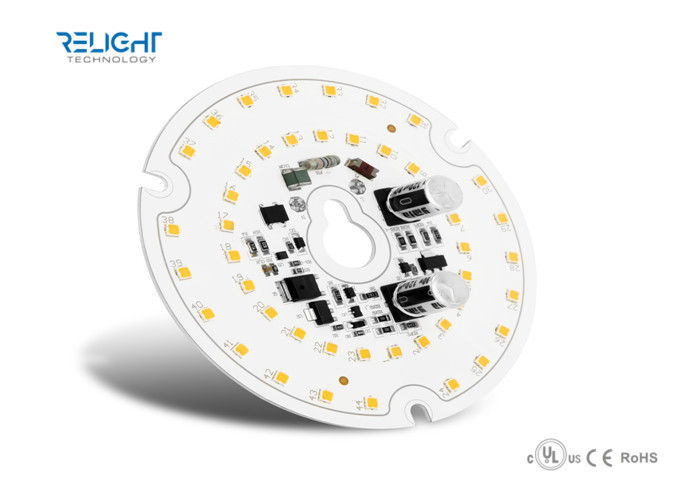 Cool / Warm White 2835/5630 SMD LED Module , Round Led Pcb Mudule Board With Sensor