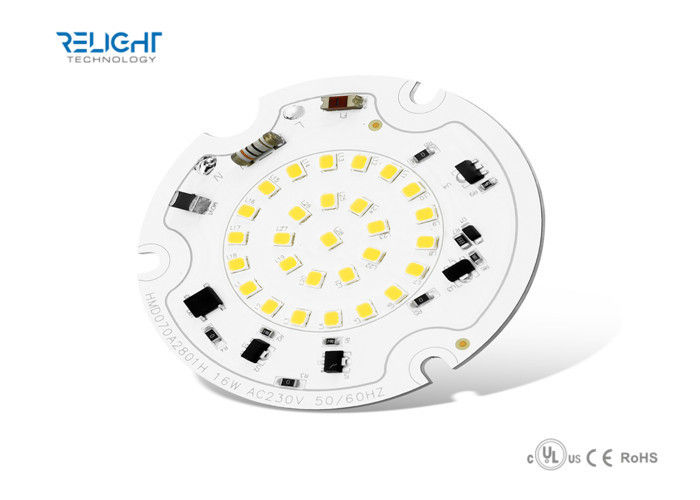 Dimmable Integrated Driverless 16W SMD2835 Round LED Module AC100V - 230V 50Hz / 60Hz