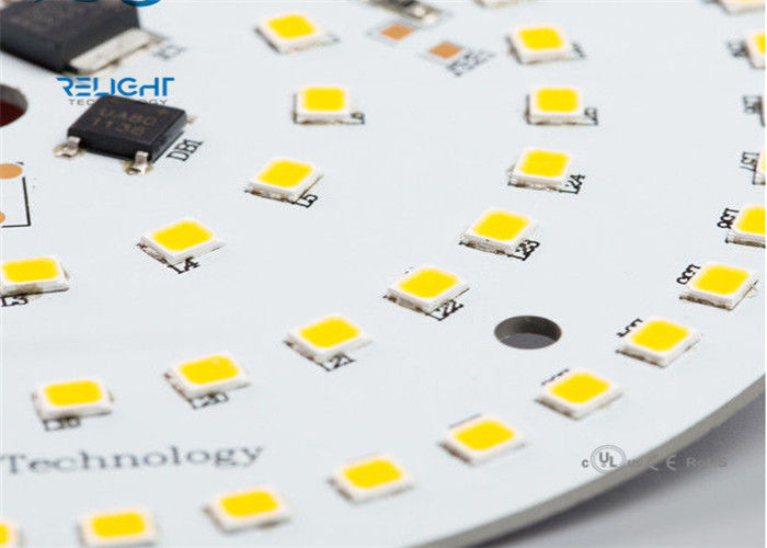 Round SMD AC LED Module Panel , 800LM Led Downlight Module PCB